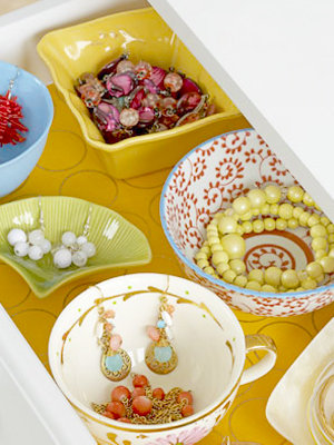 jewelry storage - cups and bowls