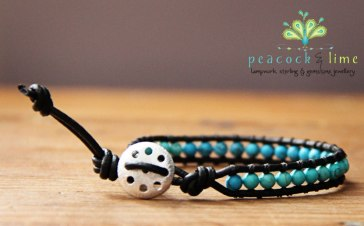 costa azul turquoise single wrap bracelet