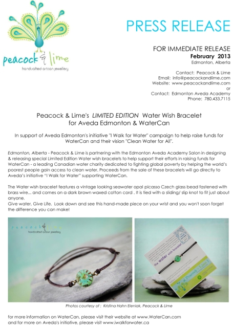 Aveda---Peacock-and-Lime---WaterCan-wish-bracelet-press-release