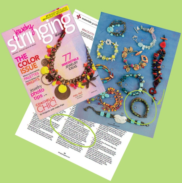 spring 2013 jewelry stringing magazine feature