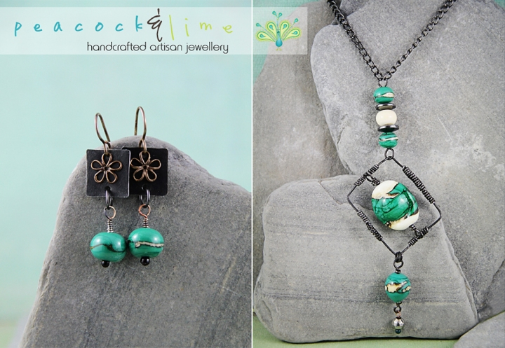 bead soup earrings-and-necklace