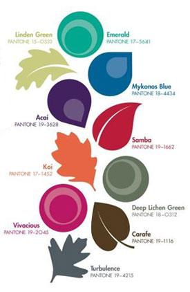 fall pantone colors 2013