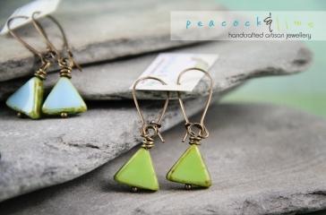 triangle-czech-glass-earrings
