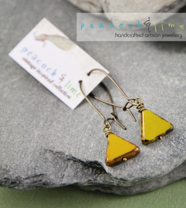 triangle-czech-glass---goldenrod