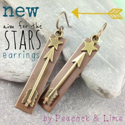 aim for the stars earrings