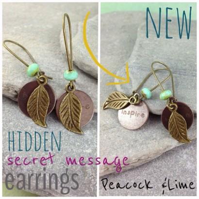 hidden secret message earrings