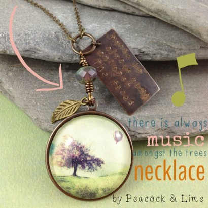 music amongst the trees necklace