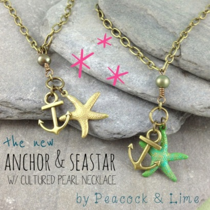 anchor & seastar necklace