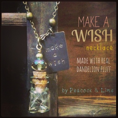 make a wish dandelion fluff necklace
