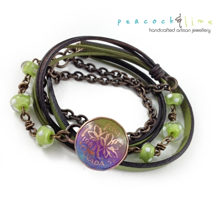 canadian-penny-clasp-wrap-bracelet---green2