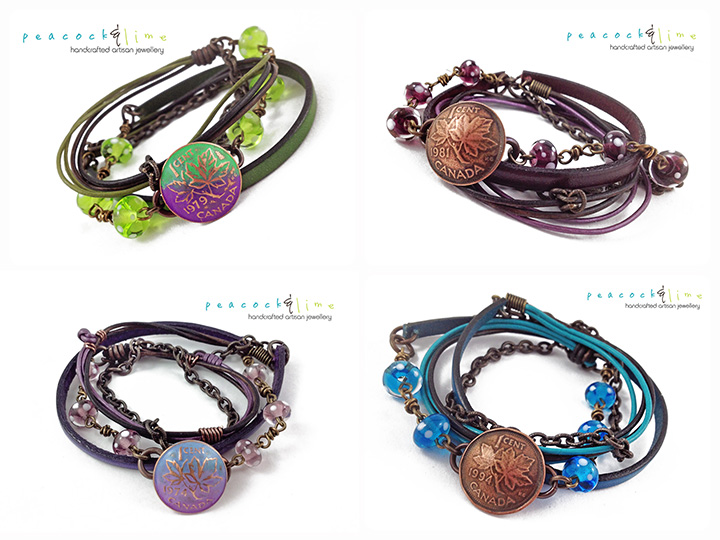 canadian-penny-clasp-wrap-bracelets-by-peacock-and-lime