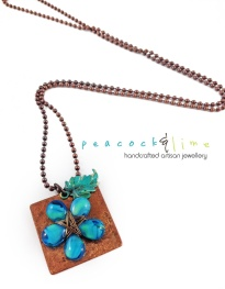 teardrop-bead-flower-copper-tag-boho-necklace
