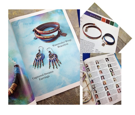 featured in create jewelry magazine - peacock and lime