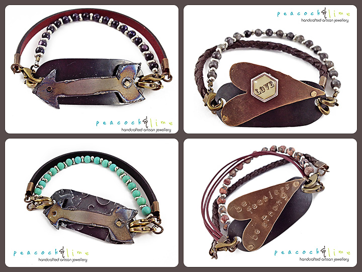 interchangeable bracelets by peacock & lime