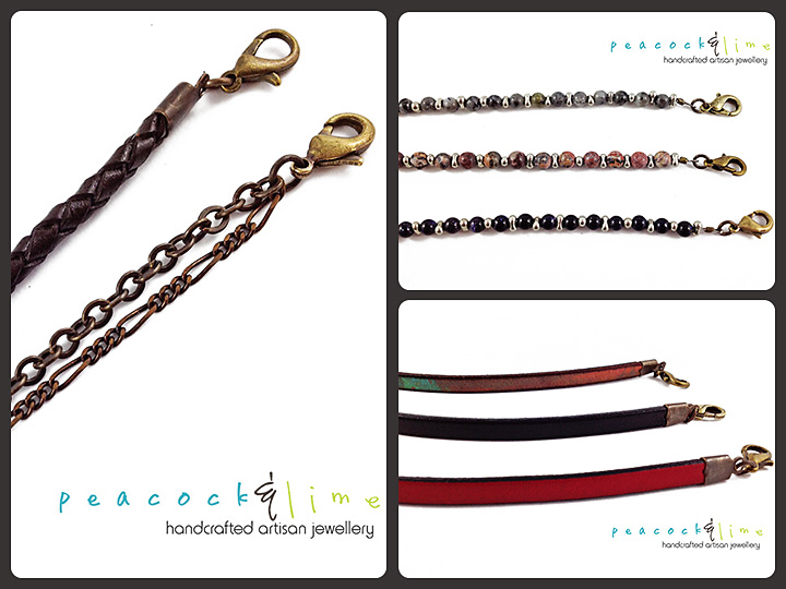 interchangeable bracelets---strap styles by peacock and lime