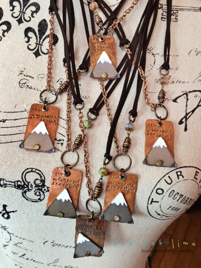 the-mountains-are-calling-necklaces by peacock and lime