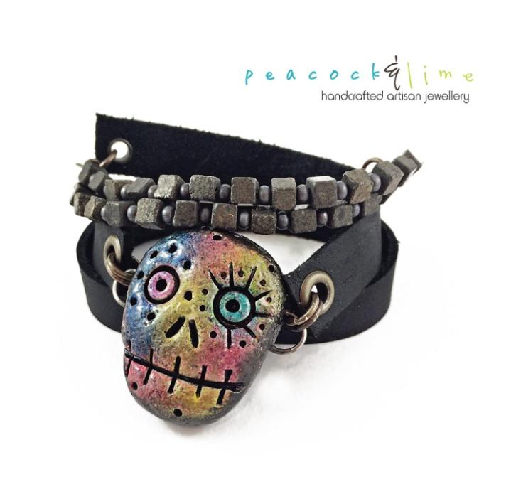 sugar-skull-wrap-bracelet
