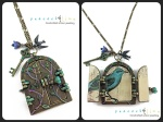 fairy door / bird house pendant necklace by peacock and lime