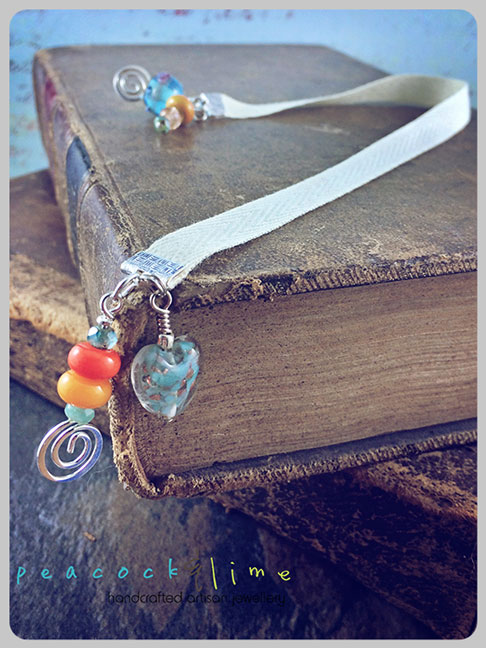 peacock-and-lime-bookmark