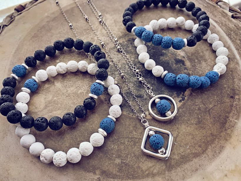Charity:Water collection - bracelets and necklaces by Peacock & Lime