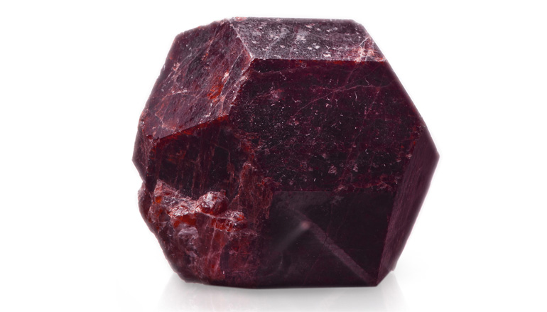 garnet - gemstone of the month blog post by peacock & lime