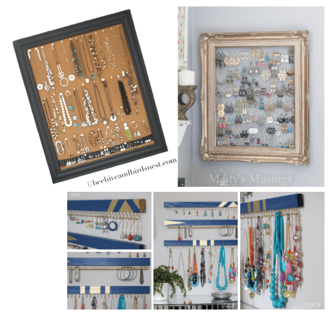 jewelry storage ideas - FOR THE DIY AFICIONADO - by peacock and lime