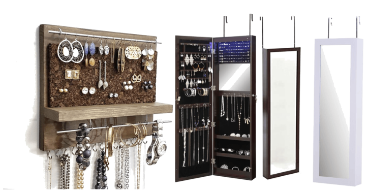 jewelry storage ideas - FOR THE ORGANIZATIONAL WIZARD - by peacock and lime